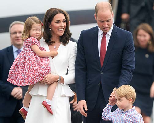 <div class='meta'><div class='origin-logo' data-origin='Creative Content'></div><span class='caption-text' data-credit='Pool/Samir Hussein/Samir Hussein/WireImage'>Catherine, Duchess of Cambridge, Princess Charlotte of Cambridge, Prince William, Duke of Cambridge and Prince George of Cambridge arrive at Warsaw airport during an official visit</span></div>