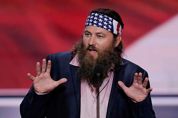 <div class='meta'><div class='origin-logo' data-origin='none'></div><span class='caption-text' data-credit='J. Scott Applewhite/AP Photo'>Willie Robertson, CEO of Duck Commander and Buck Commander speaks during the opening day of the Republican National Convention in Cleveland, on Monday.</span></div>