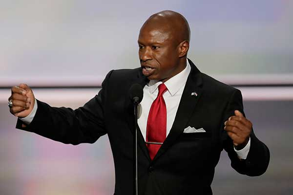 <div class='meta'><div class='origin-logo' data-origin='none'></div><span class='caption-text' data-credit='J. Scott Applewhite/AP Photo'>Darryl Glenn, Republican candidate for U.S. Senate from Colorado, speaks during the opening day of the Republican National Convention in Cleveland, Monday, July 18,</span></div>