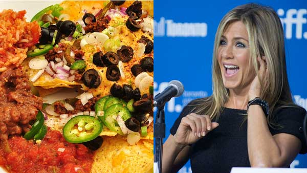"<div class=""meta image-caption""><div class=""origin-logo origin-image ""><span></span></div><span class=""caption-text"">Ask Jennifer Anniston what her favorite food is and she'll spew out a whole list of Mexican cuisine, including nachos, which, she told Stylist, are very Americanized. (Jeffreyw, AP)</span></div>"
