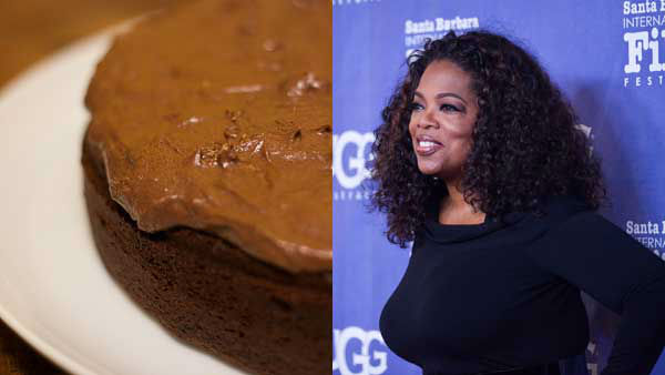 "<div class=""meta image-caption""><div class=""origin-logo origin-image ""><span></span></div><span class=""caption-text"">In her annual list of favorite things, Oprah included the decadent chocolate ""Present Cake"" by Sam Godfrey as her first find. (BenGrantham Flickr, AP)</span></div>"