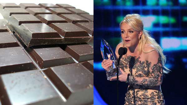 "<div class=""meta image-caption""><div class=""origin-logo origin-image ""><span></span></div><span class=""caption-text"">Britney Spears loves chocolate in all forms, especially candy bars, she told Stylist Magazine. (John Loo Flickr, AP)</span></div>"