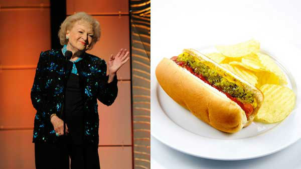 "<div class=""meta image-caption""><div class=""origin-logo origin-image ""><span></span></div><span class=""caption-text"">Betty White might be the queen of junk food. She told People that her favorite foods are ""hot dogs and Red Vines and potato chips and French fries."" (AP, TheCulinaryGeek Flickr)</span></div>"