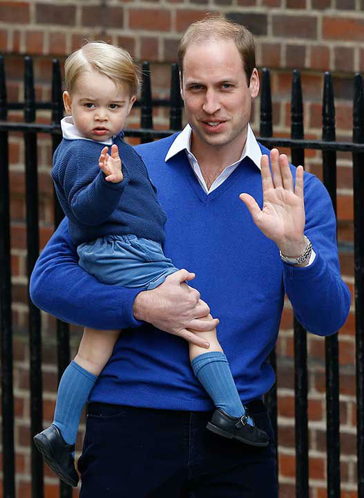 <div class='meta'><div class='origin-logo' data-origin='none'></div><span class='caption-text' data-credit='AP Photo/Kirsty Wigglesworth'>Princes George and Prince William wave as they return to St. Mary's Hospital on May 2, 2015, the day Charlotte was born.</span></div>