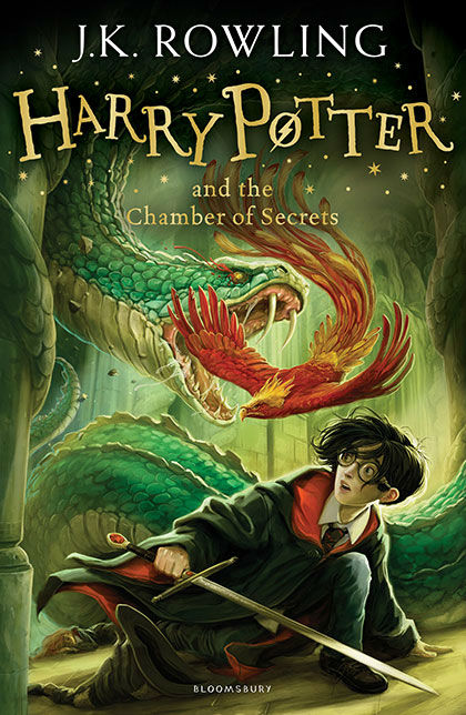 "<div class=""meta ""><span class=""caption-text "">Harry, Ginny and Fawkes the Phoenix face the basilisk in the Chamber of Secrets. (Jonny Duddle/Bloomsbury)</span></div>"