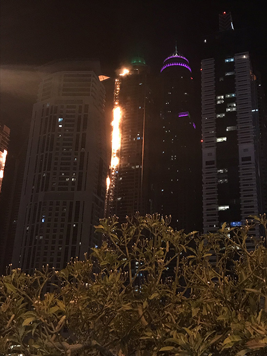 "<div class=""meta image-caption""><div class=""origin-logo origin-image none""><span>none</span></div><span class=""caption-text"">The 82-story Marina Torch building in Dubai has caught fire.  (Dina Fouri/Twitter)</span></div>"