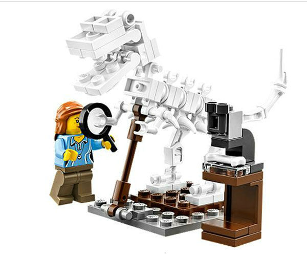 It also has a paleontologist with the fossils of a dinosaur. <span class=meta>(Photo&#47;LEGO)</span>