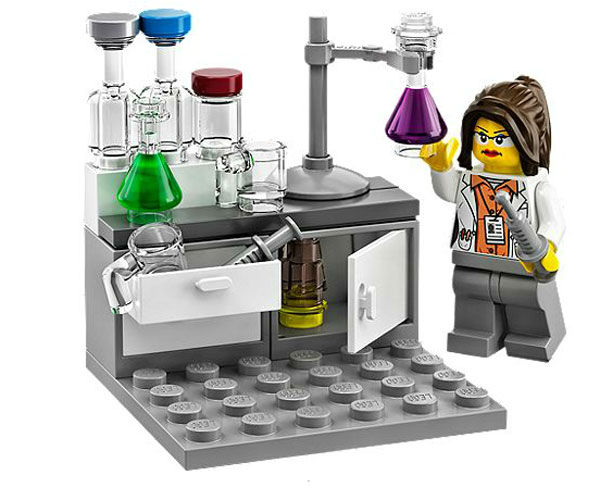 "<div class=""meta ""><span class=""caption-text "">Finally, there's the chemist experimenting in her lab. (Photo/LEGO)</span></div>"