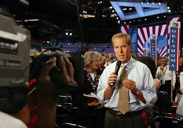 <div class='meta'><div class='origin-logo' data-origin='none'></div><span class='caption-text' data-credit='AP Photo/CHARLES DHARAPAK'>Jennings does a report from the floor during the first day of the Republican National Convention in 2004.</span></div>