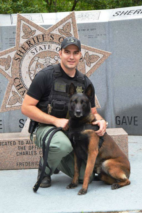 """<div class=""""meta image-caption""""><div class=""""origin-logo origin-image none""""><span>none</span></div><span class=""""caption-text"""">K9 officer Darin Behm is being praised for jumping into action when a 10-day-old baby was choking on formula. (Photo/Charles Country Sherrif's Office)</span></div>"""