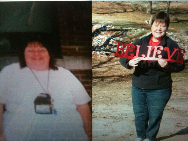 Before and after photo of Kathleen Riser&#39;s weight loss journey <span class=meta>(Facebook, Kathleen Riser)</span>