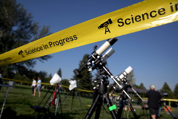 <div class='meta'><div class='origin-logo' data-origin='Creative Content'></div><span class='caption-text' data-credit='Justin Sullivan/Getty'>People set up cameras and telescopes as they prepare to watch the total eclipse at South Mike Sedar Park on August 21, 2017 in Casper, Wyoming.</span></div>