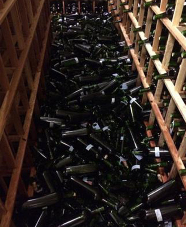 "<div class=""meta ""><span class=""caption-text "">Sunday's earthquake caused the winery thousands of dollars of damage. (David Duncan, @SilverOak)</span></div>"