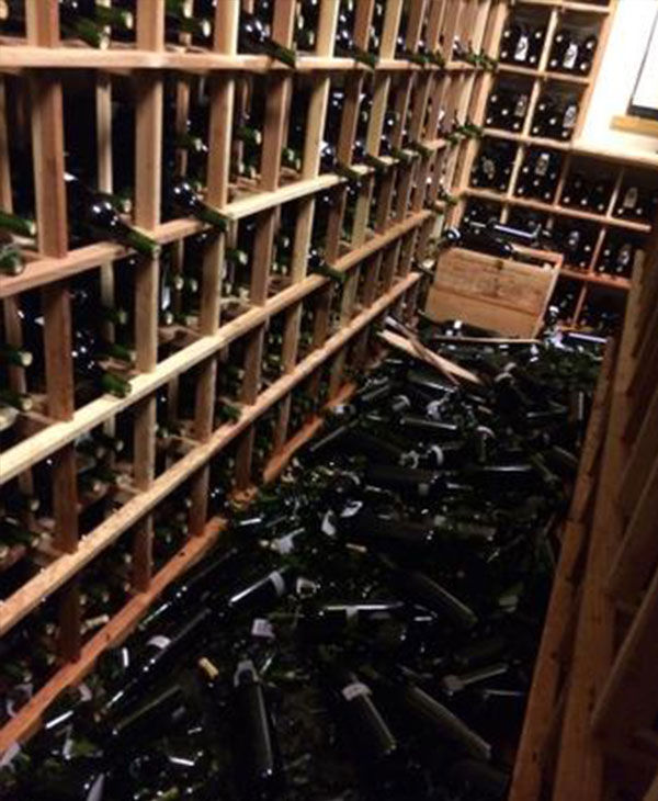 "<div class=""meta image-caption""><div class=""origin-logo origin-image ""><span></span></div><span class=""caption-text"">Sunday's earthquake caused the winery thousands of dollars of damage. (David Duncan, @SilverOak)</span></div>"