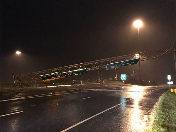 <div class='meta'><div class='origin-logo' data-origin='none'></div><span class='caption-text' data-credit='Justin Horne from ABC affiliate KSAT'>Large road signs were damaged over I-37 near Corpus Christi, Texas</span></div>