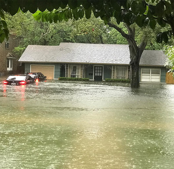 <div class='meta'><div class='origin-logo' data-origin='none'></div><span class='caption-text' data-credit='devinduoto/Instagram'>''About 3 feet of water in the house now. The cars are toast. Luckily we are safe. #prayfortexas #prayforhouston #hurricane #harvey,'' wrote <br>an Instagram user in Meyerland.</span></div>