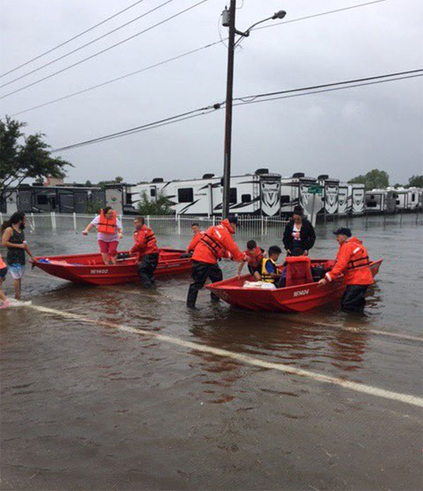 "<div class=""meta image-caption""><div class=""origin-logo origin-image none""><span>none</span></div><span class=""caption-text"">''#USCG Flood Punt Teams conducting urban search and rescue in greater #houston area. #Harvey,'' tweeted the US Coast Guard. (USCGHeartland/Twitter)</span></div>"