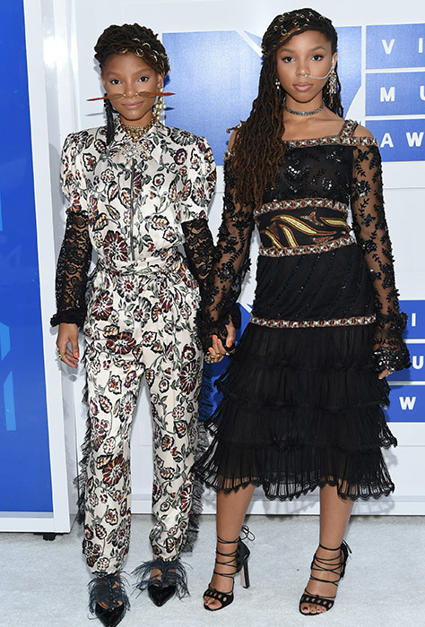 "<div class=""meta image-caption""><div class=""origin-logo origin-image ap""><span>AP</span></div><span class=""caption-text"">Halle Bailey, left, Chloe Bailey of Chloe x Halle arrive at the MTV Video Music Awards at Madison Square Garden on Sunday, Aug. 28, 2016, in New York. (Evan Agostini/Invision/AP)</span></div>"