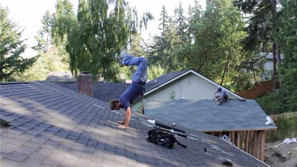"<div class=""meta image-caption""><div class=""origin-logo origin-image ""><span></span></div><span class=""caption-text"">The ''I totally forgot I was on a roof because I love dancing so much'' handstand (Creative Content Photo/ YouTube, Andrew Wilcox)</span></div>"