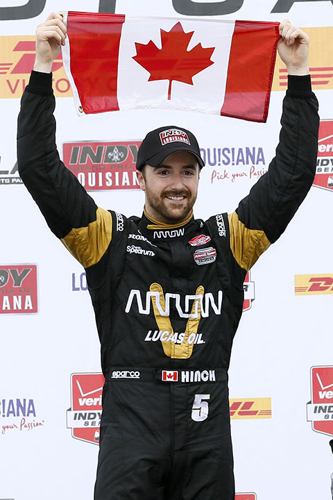 <div class='meta'><div class='origin-logo' data-origin='none'></div><span class='caption-text' data-credit='Jonathan Bachman/AP Photo'>James Hinchcliffe</span></div>