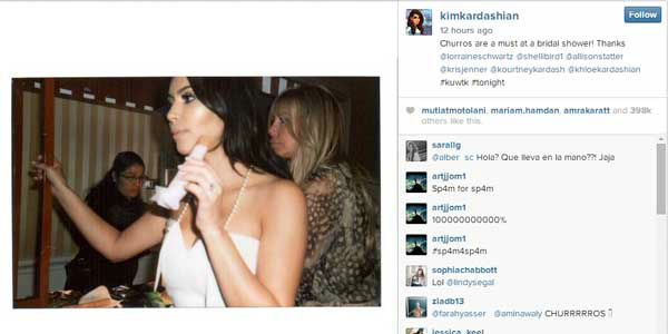 Many celebrities are ignoring the photos and rumors of to-be-released photos entirely and continuing with normal posts on social media, including Kim Kardashian. <span class=meta>Instagram, Kim Kardashian</span>