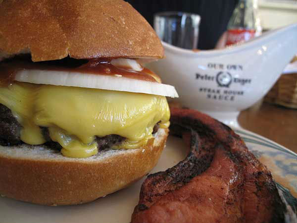 New York City: Luger-Burger with bacon and cheese from Peter Luger <span class=meta>(Photo&#47;Flickr, Monica Muller)</span>