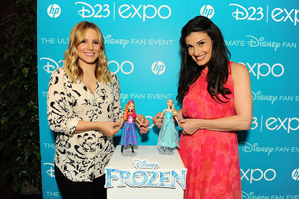4. Anna and Elsa know all about being sisters: In real life, Idina Menzel, aka Elsa, has a younger sister, and Kristen Bell, who voiced Anna, has older sisters. <span class=meta>(AP&#47;Disney)</span>