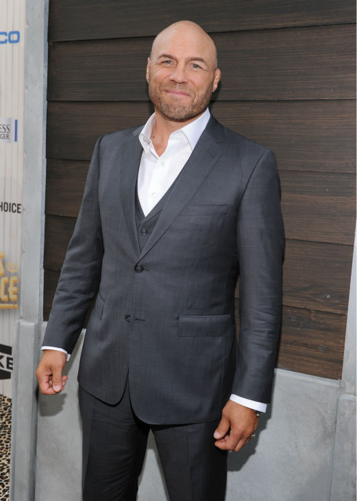 "<div class=""meta image-caption""><div class=""origin-logo origin-image ""><span></span></div><span class=""caption-text"">Contestant Randy Couture, actor and former wrestler/mixed martial artist, aka Toll Road from ''The Expendables'' (Photo/Frank Micelotta)</span></div>"