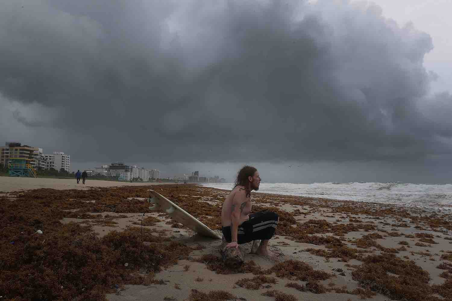 <div class='meta'><div class='origin-logo' data-origin='Creative Content'></div><span class='caption-text' data-credit='Joe Raedle/Getty'>James Sampero waits for the correct currents to head out and surf in the churning ocean as Hurricane Irma approaches on September 9, 2017 in Miami Beach, Florida.</span></div>