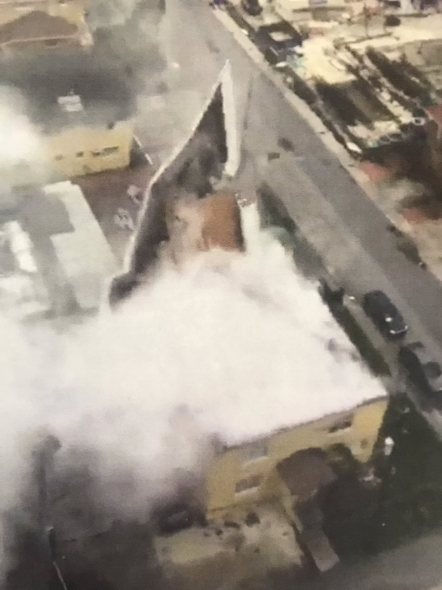<div class='meta'><div class='origin-logo' data-origin='none'></div><span class='caption-text' data-credit='CityofMiami/Twitter'>''Using satellite before pictures @CityofMiamiFire was able to confirm a roof peeled off a two story apt Bldg at 2642 NE 5th Ave in #Miami,'' the city posted on Sunday.</span></div>