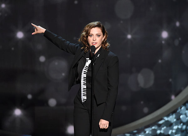 "<div class=""meta image-caption""><div class=""origin-logo origin-image none""><span>none</span></div><span class=""caption-text"">Rachel Bloom speaks during night one of the Television Academy's 2016 Creative Arts Emmy Awards at the Microsoft Theater on Saturday, Sept. 10, 2016 in Los Angeles. (Photo by Phil McCarten/Invision for the Television Academy/AP Images)</span></div>"