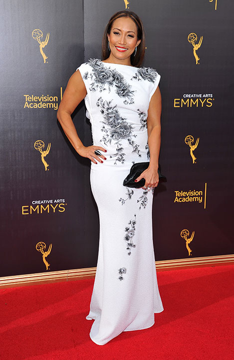 "<div class=""meta image-caption""><div class=""origin-logo origin-image none""><span>none</span></div><span class=""caption-text"">Carrie Ann Inaba arrives at night two of the Television Academy's 2016 Creative Arts Emmy Awards at the Microsoft Theater on Sunday, Sept. 11, 2016 in Los Angeles. (Vince Bucci/Invision for the Television Academy/AP Images)</span></div>"