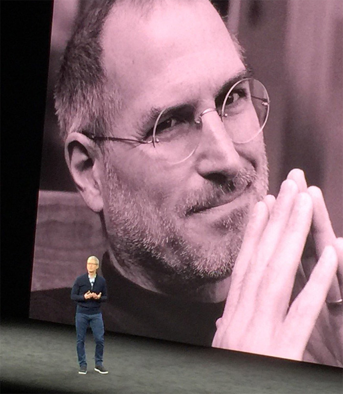 <div class='meta'><div class='origin-logo' data-origin='none'></div><span class='caption-text' data-credit='KGO-TV'>Apple CEO Tim Cook in front of large image of Steve Jobs in Cupertino, California, Tuesday, September 12, 2017.</span></div>
