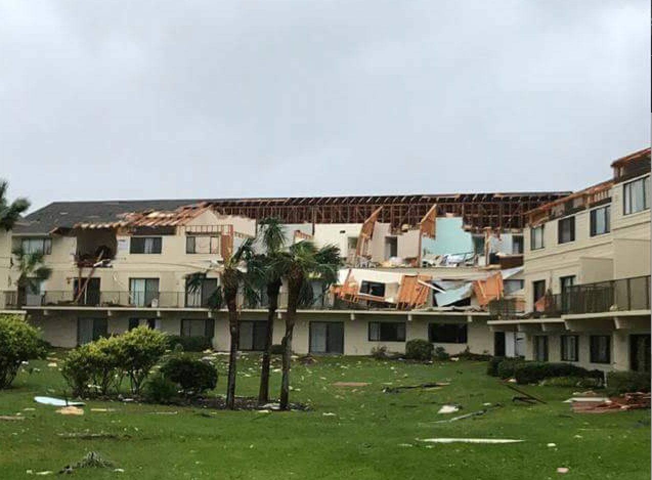<div class='meta'><div class='origin-logo' data-origin='none'></div><span class='caption-text' data-credit='St. Johns County Fire Rescue/Facebook'>Damaged buildings are shown in St. John's after the storm.</span></div>