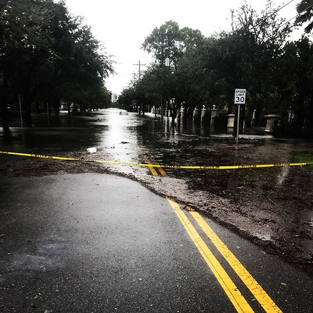 <div class='meta'><div class='origin-logo' data-origin='none'></div><span class='caption-text' data-credit='Matt Allen/Instagram'>Streets are flooded and scattered with debris in Jacksonville, Fla.</span></div>
