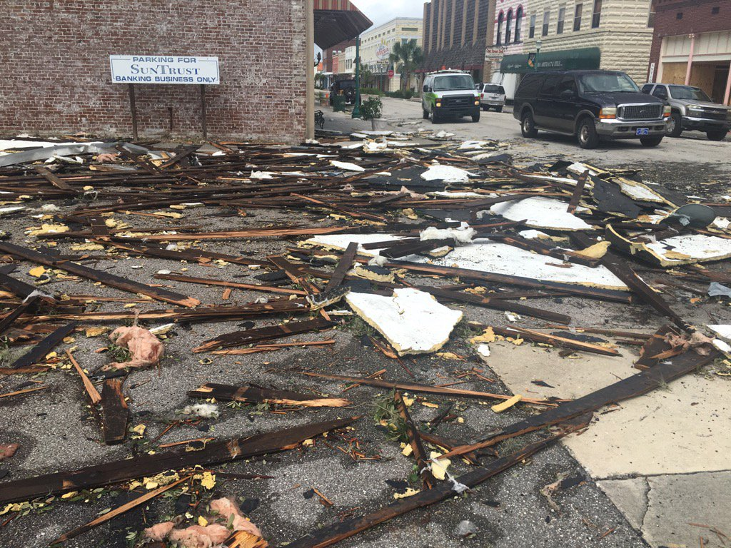 <div class='meta'><div class='origin-logo' data-origin='none'></div><span class='caption-text' data-credit='Duhane Lindo/WWSB'>The aftermath of Irma is shown in the inland city of Arcadia, Fla.</span></div>