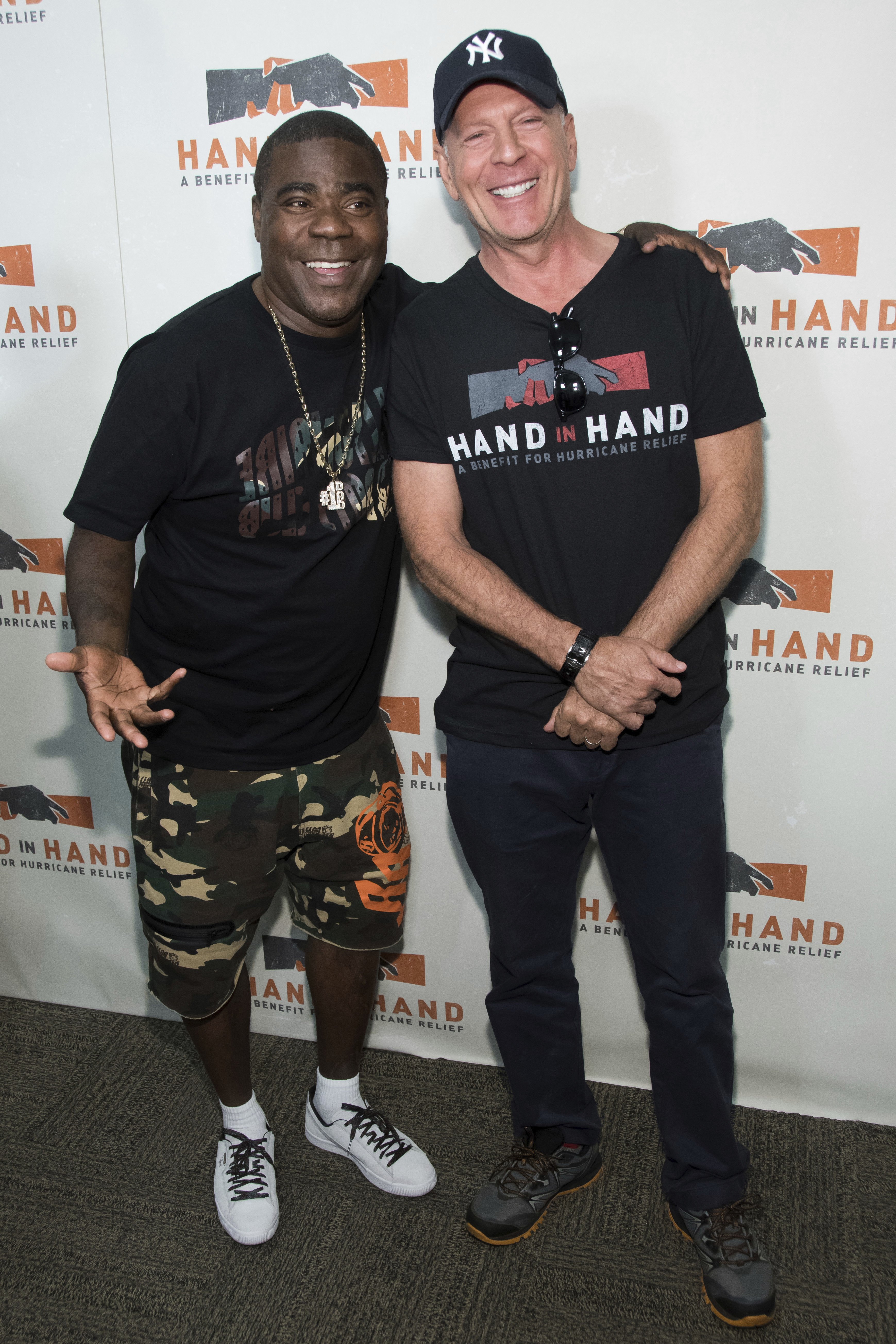 "<div class=""meta image-caption""><div class=""origin-logo origin-image none""><span>none</span></div><span class=""caption-text"">Tracy Morgan, left, and Bruce Willis attend Hand in Hand: A Benefit for Hurricane Harvey Relief at ABC Studios on Tuesday Sept. 12, 2017 in New York. (Charles Sykes/Invision/AP)</span></div>"
