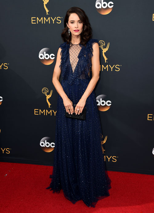 <div class='meta'><div class='origin-logo' data-origin='AP'></div><span class='caption-text' data-credit='Photo by Jordan Strauss/Invision/AP'>Abigail Spencer arrives at the 68th Primetime Emmy Awards on Sunday, Sept. 18, 2016, at the Microsoft Theater in Los Angeles.</span></div>