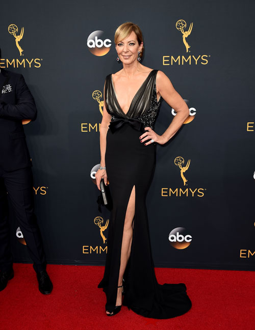 <div class='meta'><div class='origin-logo' data-origin='AP'></div><span class='caption-text' data-credit='Photo by Jordan Strauss/Invision/AP'>Allison Janney arrives at the 68th Primetime Emmy Awards on Sunday, Sept. 18, 2016, at the Microsoft Theater in Los Angeles.</span></div>