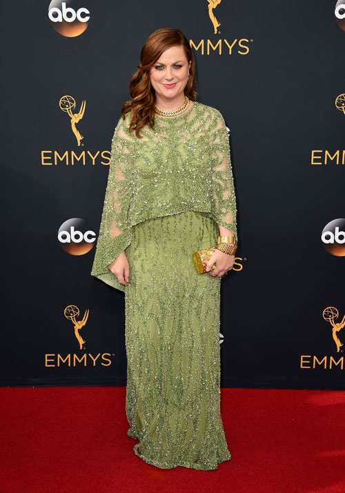 <div class='meta'><div class='origin-logo' data-origin='AP'></div><span class='caption-text' data-credit='Photo by Jordan Strauss/Invision/AP'>Amy Poehler arrives at the 68th Primetime Emmy Awards on Sunday, Sept. 18, 2016, at the Microsoft Theater in Los Angeles.</span></div>