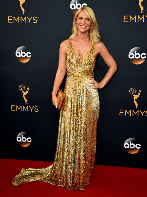 <div class='meta'><div class='origin-logo' data-origin='AP'></div><span class='caption-text' data-credit='Photo by Jordan Strauss/Invision/AP'>Claire Danes arrives at the 68th Primetime Emmy Awards on Sunday, Sept. 18, 2016, at the Microsoft Theater in Los Angeles.</span></div>