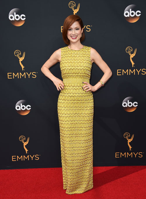 <div class='meta'><div class='origin-logo' data-origin='AP'></div><span class='caption-text' data-credit='Photo by Jordan Strauss/Invision/AP'>Ellie Kemper arrives at the 68th Primetime Emmy Awards on Sunday, Sept. 18, 2016, at the Microsoft Theater in Los Angeles.</span></div>