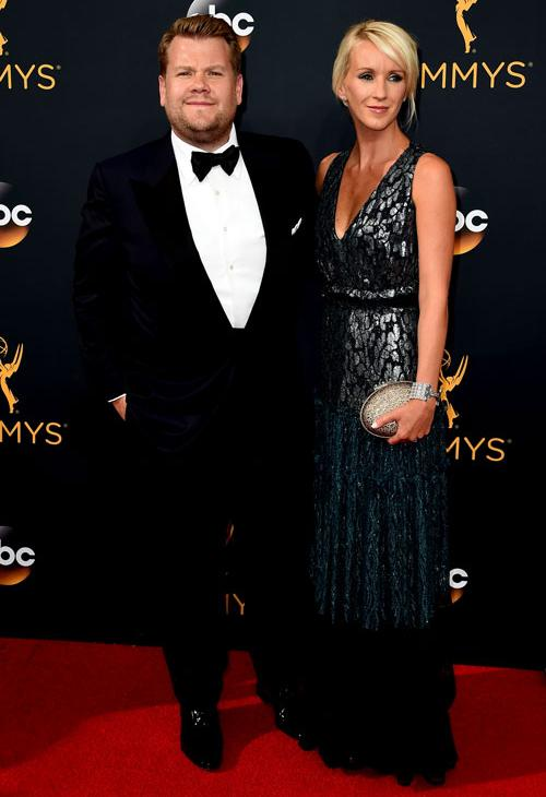 <div class='meta'><div class='origin-logo' data-origin='AP'></div><span class='caption-text' data-credit='Photo by Jordan Strauss/Invision/AP'>James Corden, left, and Julia Carey arrive at the 68th Primetime Emmy Awards on Sunday, Sept. 18, 2016, at the Microsoft Theater in Los Angeles.</span></div>