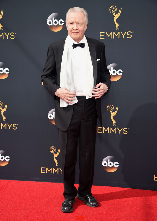 <div class='meta'><div class='origin-logo' data-origin='AP'></div><span class='caption-text' data-credit='Photo by Phil McCarten/Invision for the Television Academy/AP Images'>Jon Voight arrives at the 68th Primetime Emmy Awards on Sunday, Sept. 18, 2016, at the Microsoft Theater in Los Angeles.</span></div>