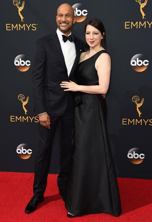 <div class='meta'><div class='origin-logo' data-origin='AP'></div><span class='caption-text' data-credit='Photo by Jordan Strauss/Invision/AP'>Keegan-Michael Key, left, and Elisa Pugliese arrive at the 68th Primetime Emmy Awards on Sunday, Sept. 18, 2016, at the Microsoft Theater in Los Angeles.</span></div>