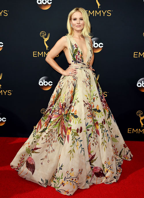 <div class='meta'><div class='origin-logo' data-origin='AP'></div><span class='caption-text' data-credit='Photo by Jordan Strauss/Invision/AP'>Kristen Bell arrives at the 68th Primetime Emmy Awards on Sunday, Sept. 18, 2016, at the Microsoft Theater in Los Angeles.</span></div>