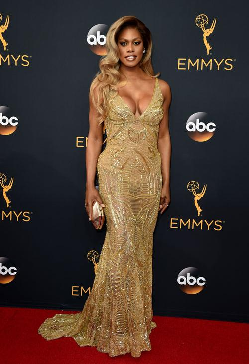 <div class='meta'><div class='origin-logo' data-origin='AP'></div><span class='caption-text' data-credit='Photo by Jordan Strauss/Invision/AP'>Laverne Cox arrives at the 68th Primetime Emmy Awards on Sunday, Sept. 18, 2016, at the Microsoft Theater in Los Angeles.</span></div>