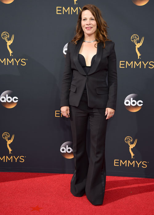 <div class='meta'><div class='origin-logo' data-origin='AP'></div><span class='caption-text' data-credit='Photo by Phil McCarten/Invision for the Television Academy/AP Images'>Lili Taylor arrives at the 68th Primetime Emmy Awards on Sunday, Sept. 18, 2016, at the Microsoft Theater in Los Angeles.</span></div>