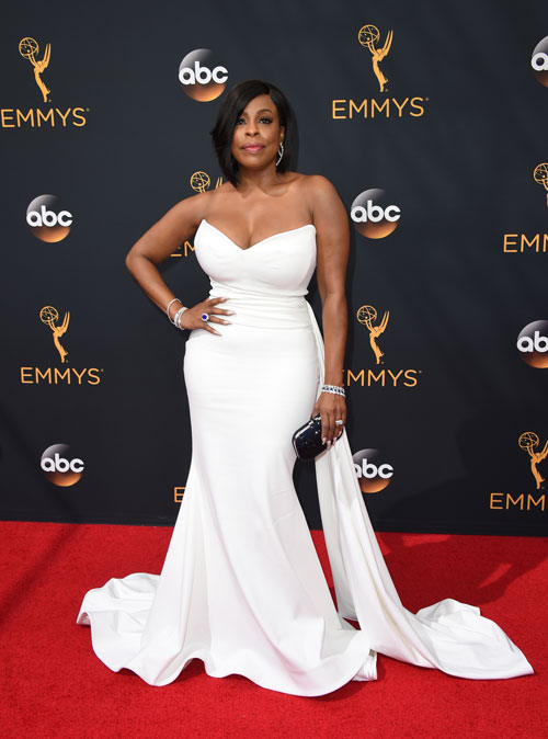 <div class='meta'><div class='origin-logo' data-origin='AP'></div><span class='caption-text' data-credit='Photo by Jordan Strauss/Invision/AP'>Niecy Nash arrives at the 68th Primetime Emmy Awards on Sunday, Sept. 18, 2016, at the Microsoft Theater in Los Angeles.</span></div>