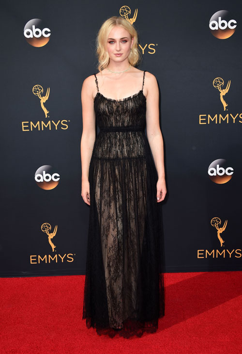 <div class='meta'><div class='origin-logo' data-origin='AP'></div><span class='caption-text' data-credit='Photo by Jordan Strauss/Invision/AP'>Sophie Turner arrives at the 68th Primetime Emmy Awards on Sunday, Sept. 18, 2016, at the Microsoft Theater in Los Angeles.</span></div>